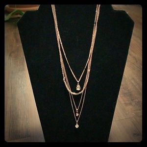Rose goldtone Multi strand necklace